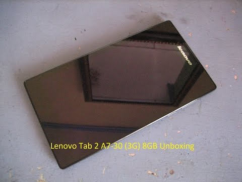 Lenovo Tab 2 A7-30 (3G) Unboxing