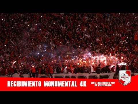 RECIBIMIENTO MONUMENTAL 4K / River Plate vs Wilstermann / Libertadores 2017 - Los Borrachos del Tablón - River Plate - Argentina - América del Sur
