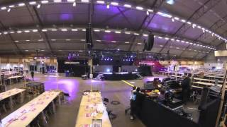 Dreamhack Winter 2014 Stage Build Timelapse (Unedited)