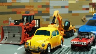 Nonton Transformers Bumblebee Movie Animation Robot Truck Lego Thieves ATM Fail & Police Chase Car for kids Film Subtitle Indonesia Streaming Movie Download