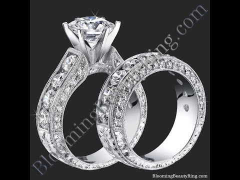 Engagement Ring Set BBR389 By Blooming Beauty Engagement Rings