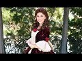 Belle in her Enchanted Christmas Winter Dress Meet & Greet at Epcot Festival of the Holidays 2017