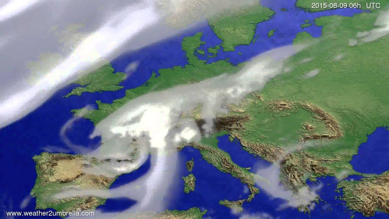 Cloud forecast Europe 2015-08-06