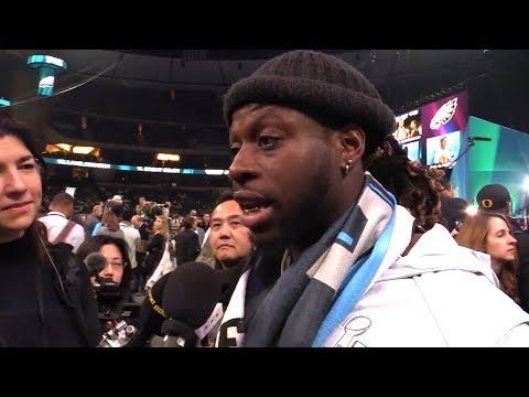 London-Born Jay Ajayi Speaks Ahead Of The Super Bowl (видео)