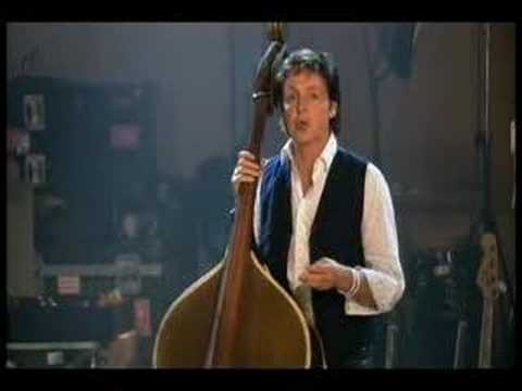 upright - Paul on upright bass and vocal doing the Elvis tune 'Heartbreak Hotel'. A clip from 'Chaos & Creation At Abbey Road'.