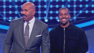 Video Watch Kanye West Smiling Non-Stop During Celebrity Family Feud MP3, 3GP, MP4, WEBM, AVI, FLV Juni 2018