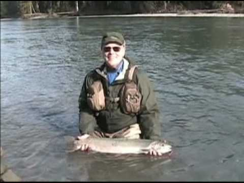 Guided fly fishing in washington for winter steelhead.