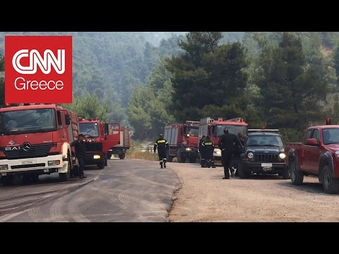 Video - Κόλαση φωτιάς στα Δερβενοχώρια - Σε δύσβατη περιοχή η πυρκαγιά - Τιτάνια προσπάθεια από τους πυροσβέστες - Συνεχείς ανοζωπυρώσεις