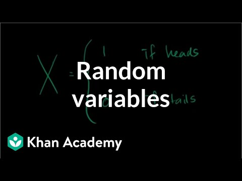 Random Variables Video Khan Academy