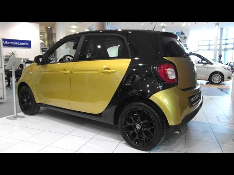 2015 Smart Forfour coupe by Mercedes-Benz Daimler Review Walkaround Exterior Interior Walkthrough