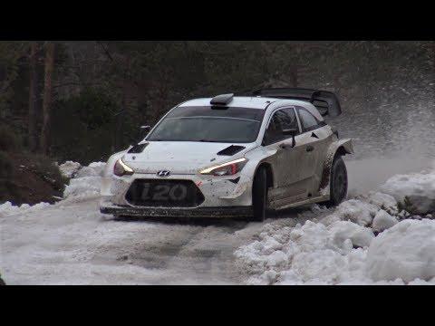 Dani Sordo Snow Test   Hyundai i20 WRC pre Rally Monte-Carlo 2018 by Jaume Soler