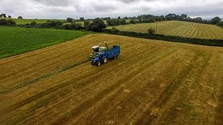 Brendan Marshall on his last second cut silage job of 2016. Cutting was a Claas Jaguar 890, drawing was a tm135, tm155 and 6930 with Kane and thorpe trailers. Volvo l70 on the pit.Thanks to all involved Facebook page: https://www.facebook.com/agrivideoscorkEquipment:DJI phantom 3 standardCanon 700d with 30mm and 50mm lensGoPro Hero 3Song The Brevet - Start To Begin