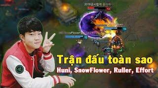 Huni stream Rank Hàn ngày 06.03.2017 pick Rumble đi Top, Huni đã luyện tập tướng này rất nhiều lần và trong trận chiến với Jin Air chiều nay Huni lại đem ra sử dụng 1 lần nữa làm nên chiến thắng cho SKT.Trận đấu này ngoài Huni còn có các sao Ruller, SnowFlower, Teddy, Effort..