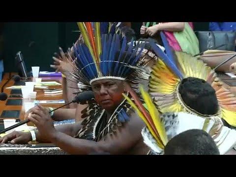 Brasilien: Indigene demonstrieren für das Amazonasgeb ...
