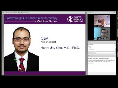 Breakthroughs in Cancer Immunotherapy Webinar: Dr. Hearn Jay Cho, Immunotherapy for Multiple Myeloma