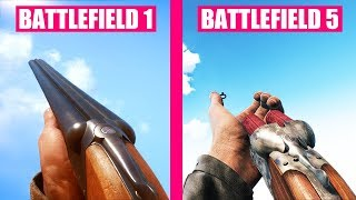 Battlefield 1 vs Battlefield 5 Weapons Comparison