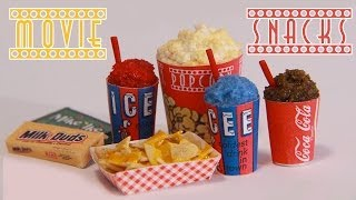 Movie Theater Snacks : How to Make Miniature Popcorn, Icee, Nachos, & Candy (Polymer Clay) - YouTube