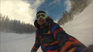 Valberg France  City pictures : Gopro Hero 3 - Snowboard Powder (Valberg, France)