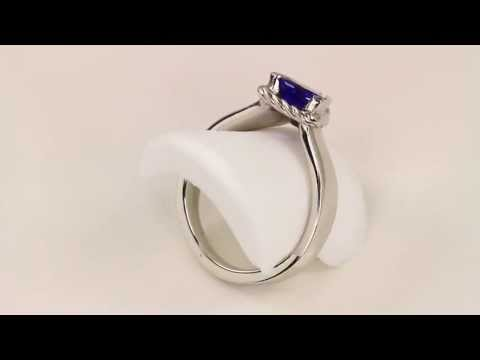 Christopher Michael Designed .94 Carat Trilliant Tanzanite Ring With Diamond