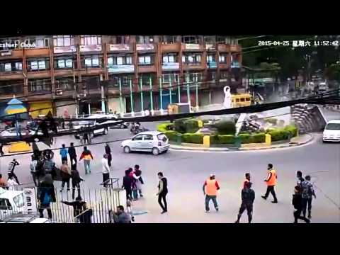 (LIVE CCTV footage of earthquake in Kathmandu - Duration: 1:08.)