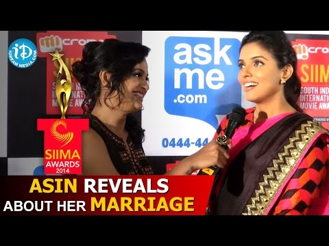 Asin Reveals about her Marriage @ SIIMA Awards 2014