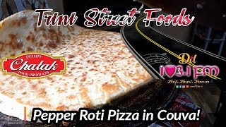 Trini Street Foods - Pepper Roti Pizza at Pepper Dee's
