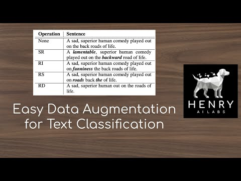 2020 August 29 - Easy Data Augmentation for Text Classification