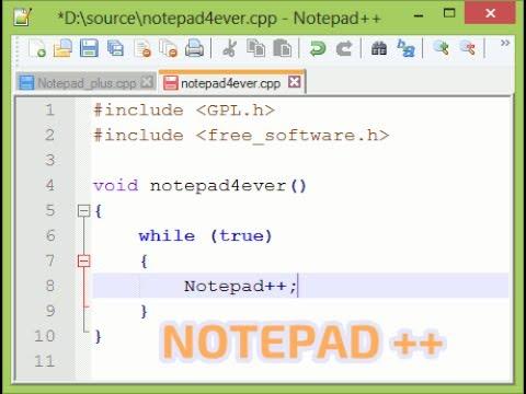 شرح برنامج تحرير النصوص notepad++  مع لغات البرمجة