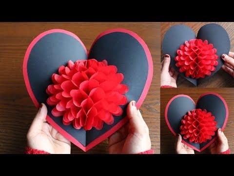 DIY Flower Pop up Card-Paper Crafts-Handmade Craft (видео)