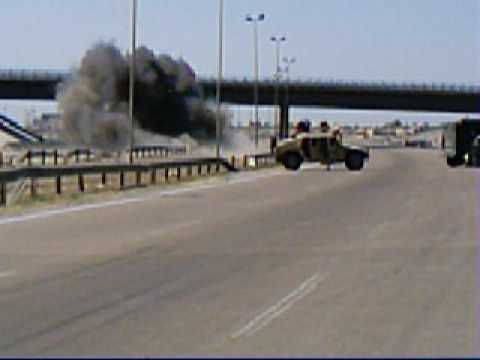 Iraq Roadside Close Call