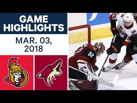 Video: NHL Game Highlights | Senators vs. Coyotes - Mar. 03, 2018