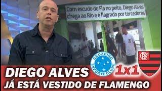 Diego Alves já está vestido de Flamengo