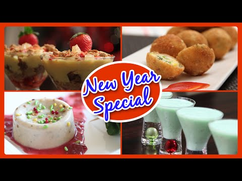 New Year Special |Party Recipes | Starters – Cocktail – Cake – Appetizers