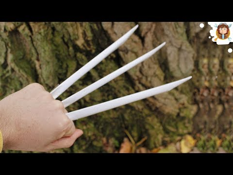 claws - How to make paper wolverine claws using 6 peices of paper, scissors and tape!