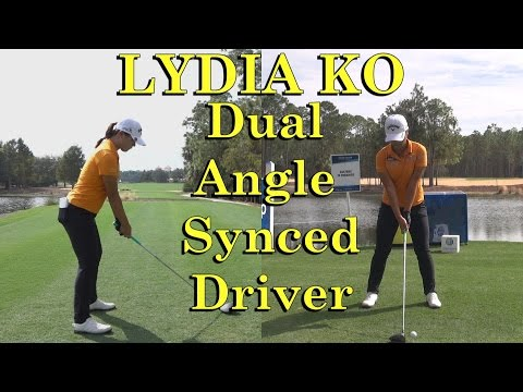 LYDIA KO DUAL ANGLE SLOW MOTION DRIVER GOLF SWING 17th HOLE TIBURON CME 1080 HD