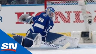 Andrei Vasilevskiy Pulls A Behind-The-Back Glove Save On Mathew Barzal by Sportsnet Canada
