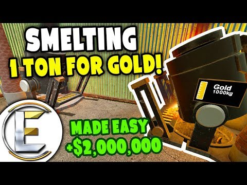 Garrys Mod - Smelting 1 Ton Of Gold - Gmod DarkRP Life (Mining Gold, Ton Of Gold Ingots Sell For Huge Profits)