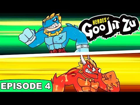 Heroes of Goo Jit Zu DINO POWER | MINI MOVIE CARTOON | Episode 4 | Gooing the Distance!