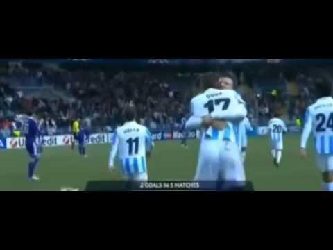 Malaga 2 2 RSC Anderlecht December 2012  Duda goal Dieumerci Mbokani goals