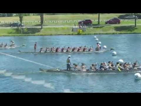 HQ Canadian Dragon Boat Championships 2014 ★ Race 4 ★ New College, Beast U23, PDBC U24 Mixed, Waterl