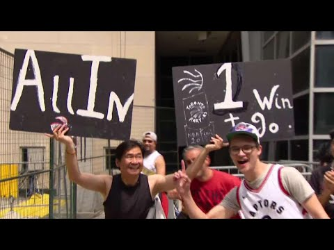Fans camp out ahead of Game 5 of NBA Final