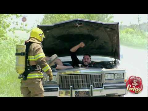 Firefighter In Car Prank