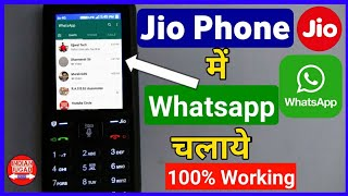 Video Use Whatsapp on Jio Phone with 100% working method | Jio Phone  me Whatsapp Kaise Chalaye MP3, 3GP, MP4, WEBM, AVI, FLV November 2018
