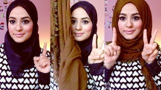 Hijab Tutorial : Square Scarf!