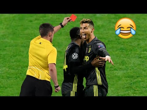 Top 10 Most Crazy/Funny Red card reaction in football ● HD