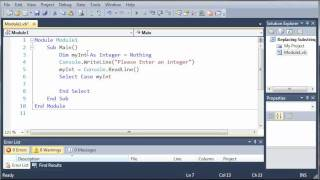 Visual Basic Tutorial - 24 - Select Case