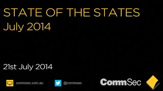 State of the States: July 2014 - CommSec