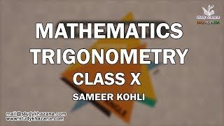Learn Trigonometry Maths for Class Xth is a self-paced course is designed to help Class 10 students to understand concepts and application through videos. You can view these Video lectures as many times as you want to clear the concepts.Concepts covered:Introduction to TrigonometryTrigonometric RatiosTrigonometric Ratios of Some Specific AnglesTrigonometric Ratios of Complementary AnglesTrigonometric IdentitiesRelation between trigonometric RatiosValues of Trigonometric ratios in terms of the value of one of them.Mr. Sameer Kohli is our the most interactive teacher of study khazana. He teaches the students of class IX, X, XI, and XII. Further, he has 18 years of experience and this experience has made many students score the best result. A topic taught by Sir cannot be forgotten. He has a zeal to teach and he always comes up with a new enthusiasm, a new story and a new trick. His lectures are boon for all the students who want to succeed. In his lectures, he has shared some secrets of success. If you wish to be successful you should watch his lectures. These lectures can be a life changing experience for you.SUBSCRIBE to Watch More Tutorials & Lectures Visit: https://www.youtube.com/c/StudyKhazana** Stay Connected with Us **https://www.facebook.com/studykhazanahttps://twitter.com/studykhazanaahttps://www.instagram.com/study_khazana/Full Course and Lecture Videos now available on (Study Khazana) login at http://studykhazana.com/Contact Us : +91 8527697924Mail Us: mail@studykhazana.com