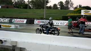 9. Suzuki Boulevard M90 Vs Honda CBR600 at the Drags