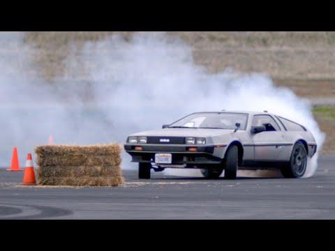 Video of self-driving Delorean